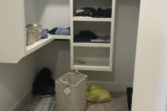 White closet before